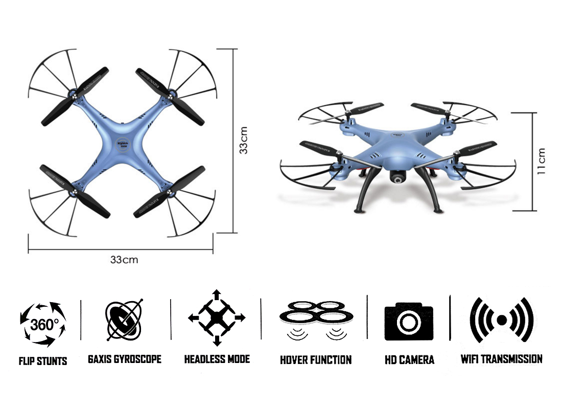 Syma X5hw Fpv 4ch Rc Quadcopter Drone With Hd Wifi Camera