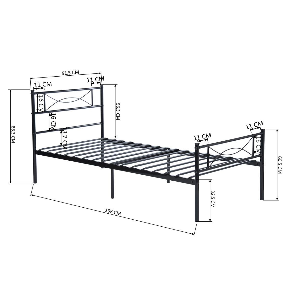 Full Twin Size Bedroom Metal Bed Frame Platform Mattress