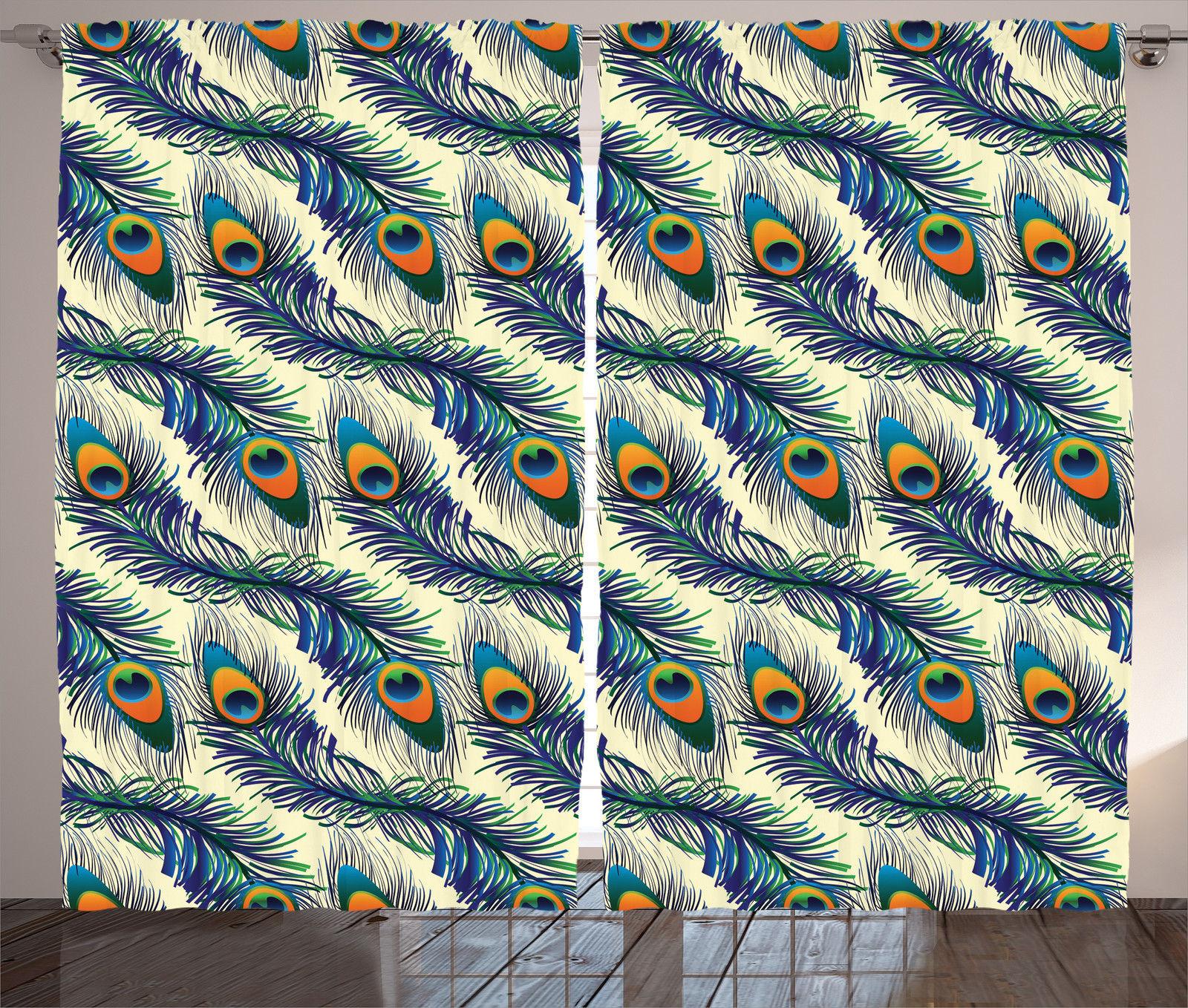 Peacock Feathers Pattern Vintage Style Ornamental Artprint