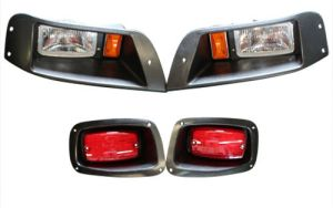 EZGO Golf Cart Headlight and Tail Light Kit With