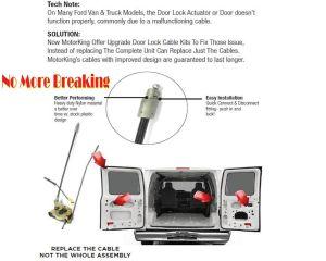 Ford E250 E350 E450 Right Rear Door Handle Latch Cable