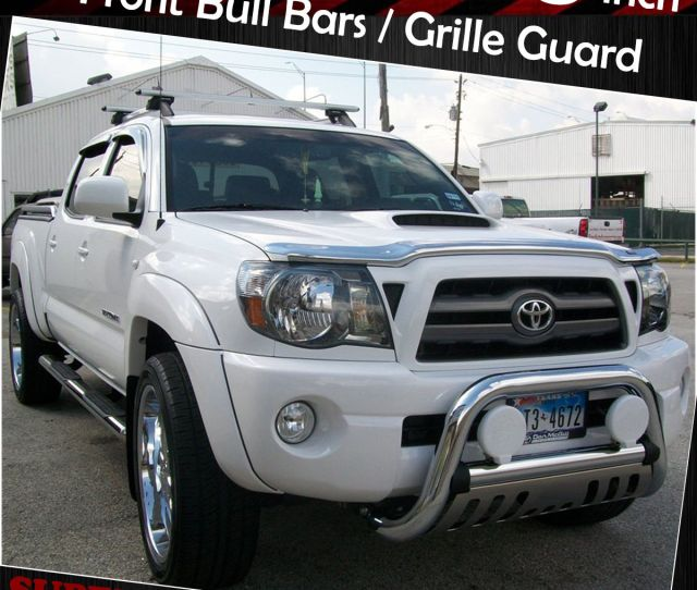 Chrome Bull Bar For 05 15 Toyota Tacoma Front Bumper Grille Guards Skid Plate