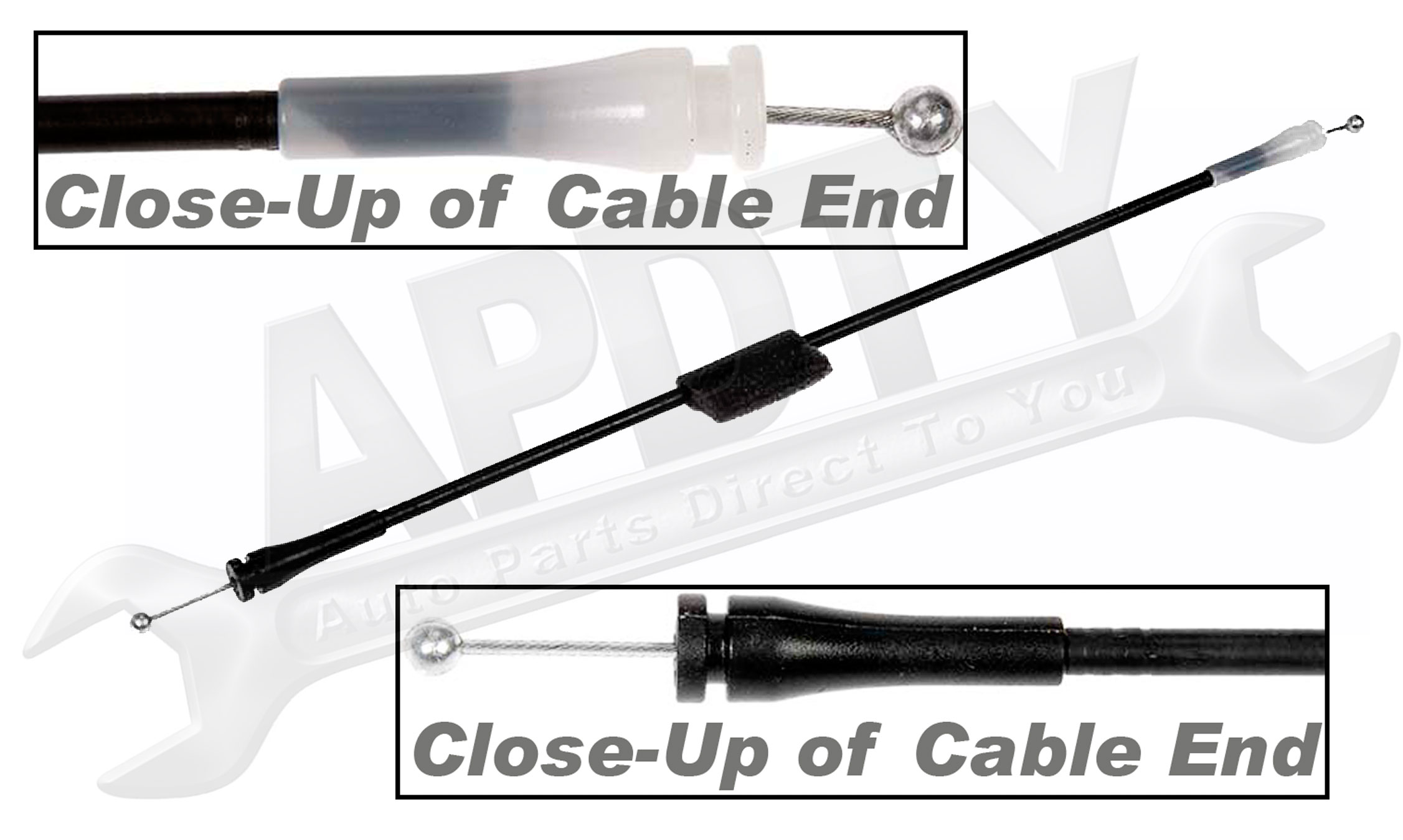 Apdty Door Latch Cable Fits Rear Left
