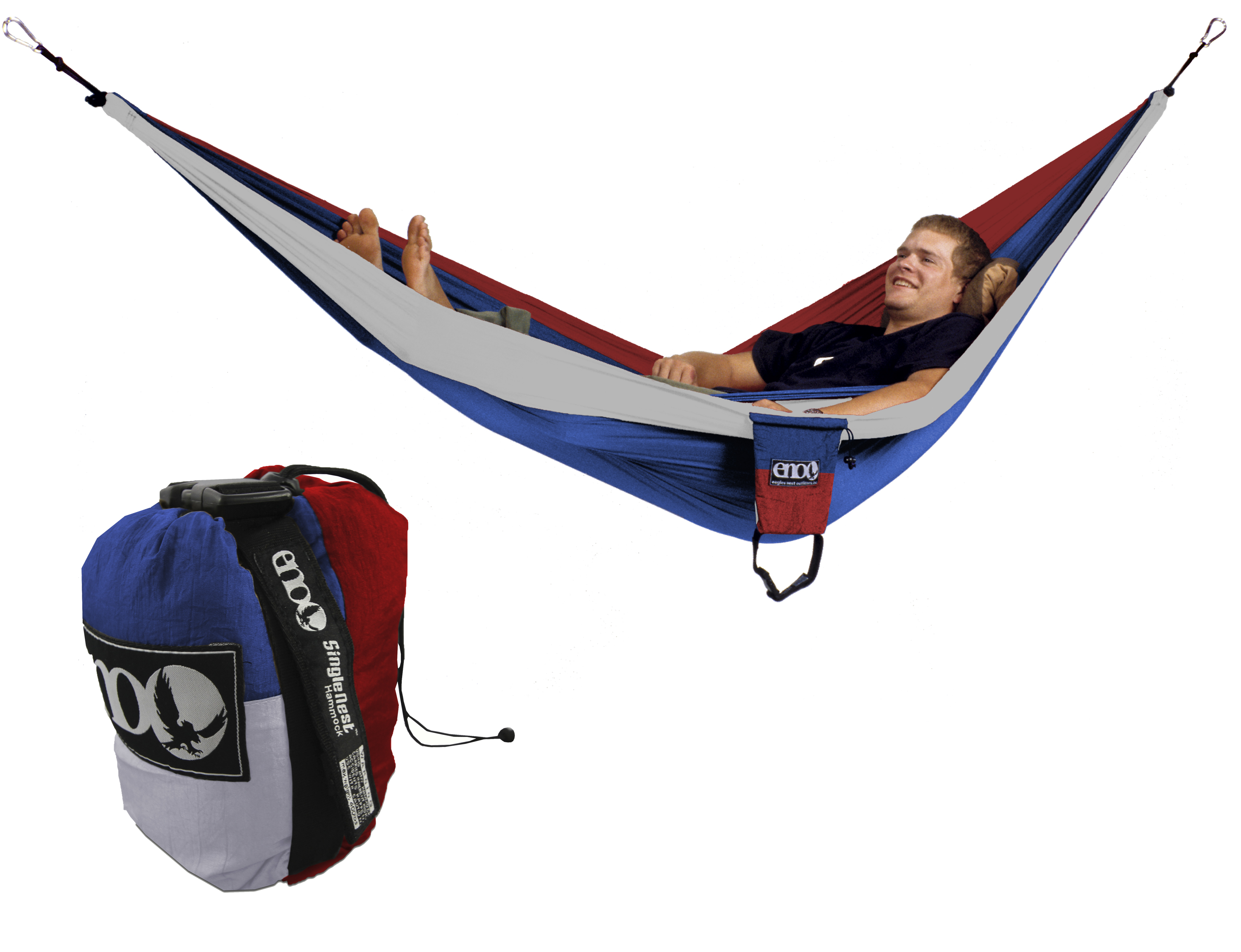 Eno Single Nest Hammock Patriot Red White Blue One Person
