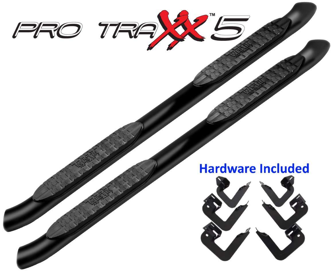 21 Westin 5 Pro Traxx Black Nerf Bars For Toyota