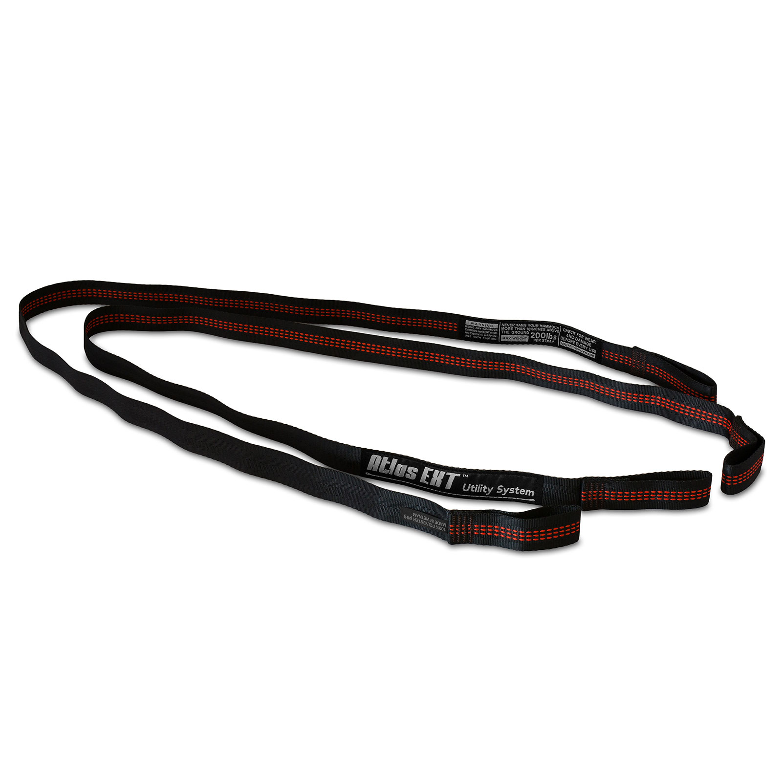 Eno Atlas Ext Black Red Camping Hammock Strap Extension