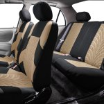 Auto Parts And Vehicles Universal Seat Covers For Auto Car Suv Van Beige Black Full Interior Set Car Truck Seat Covers