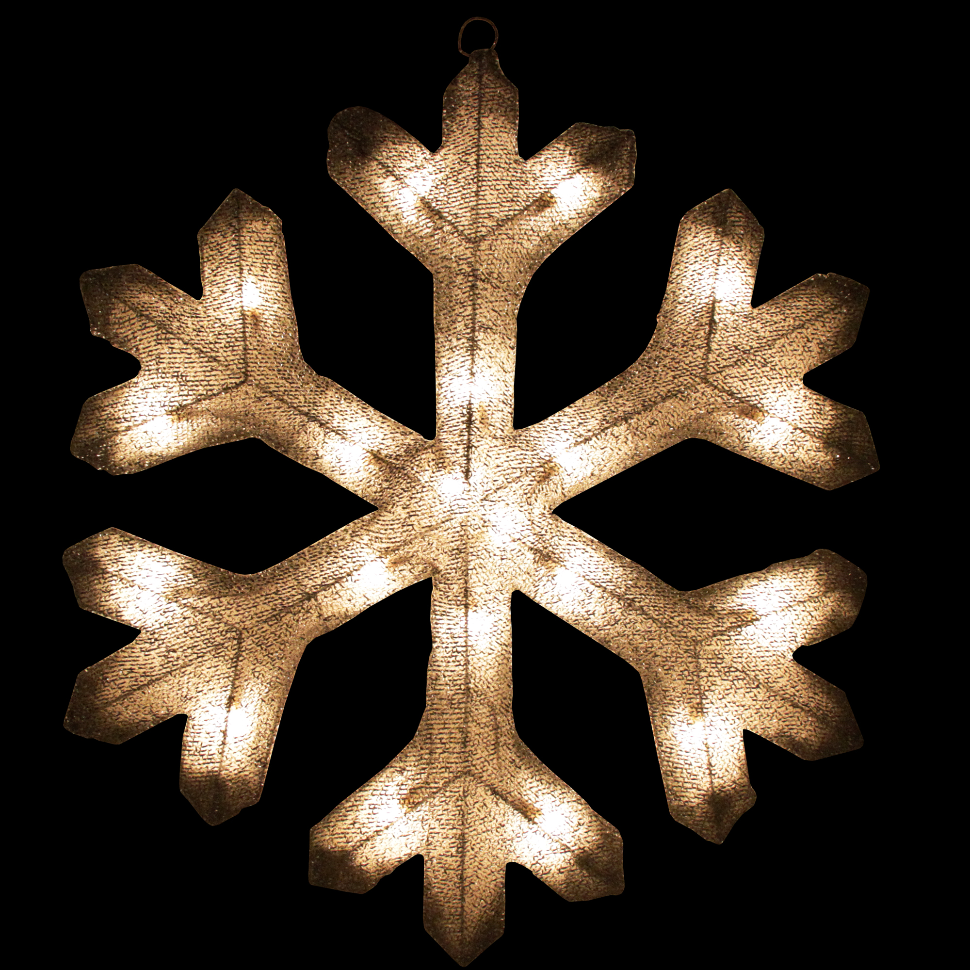 20 Lighted Silver Tinsel Christmas Snowflake Window