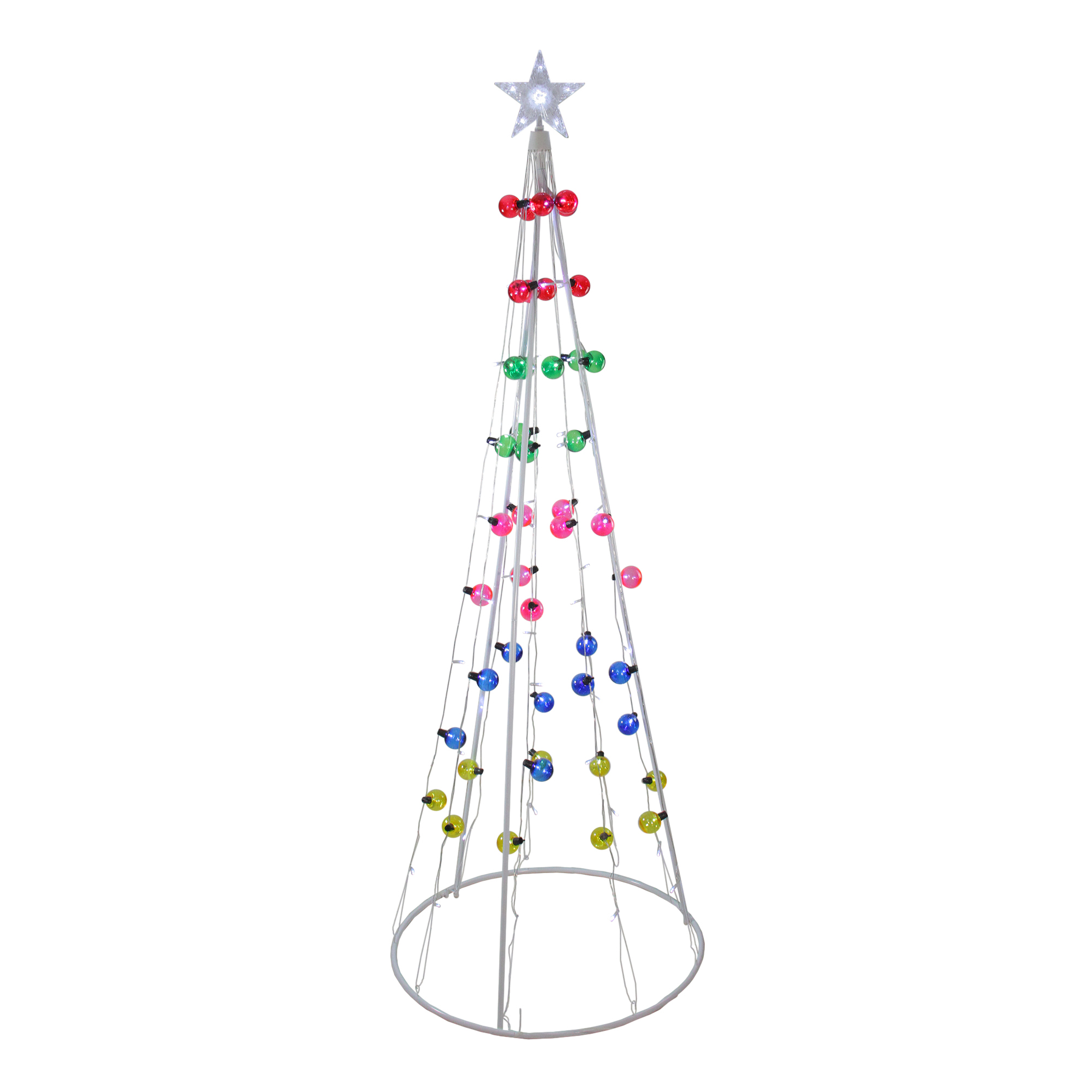 Northlight 6 Multi Colored Lighted Show Cone Christmas