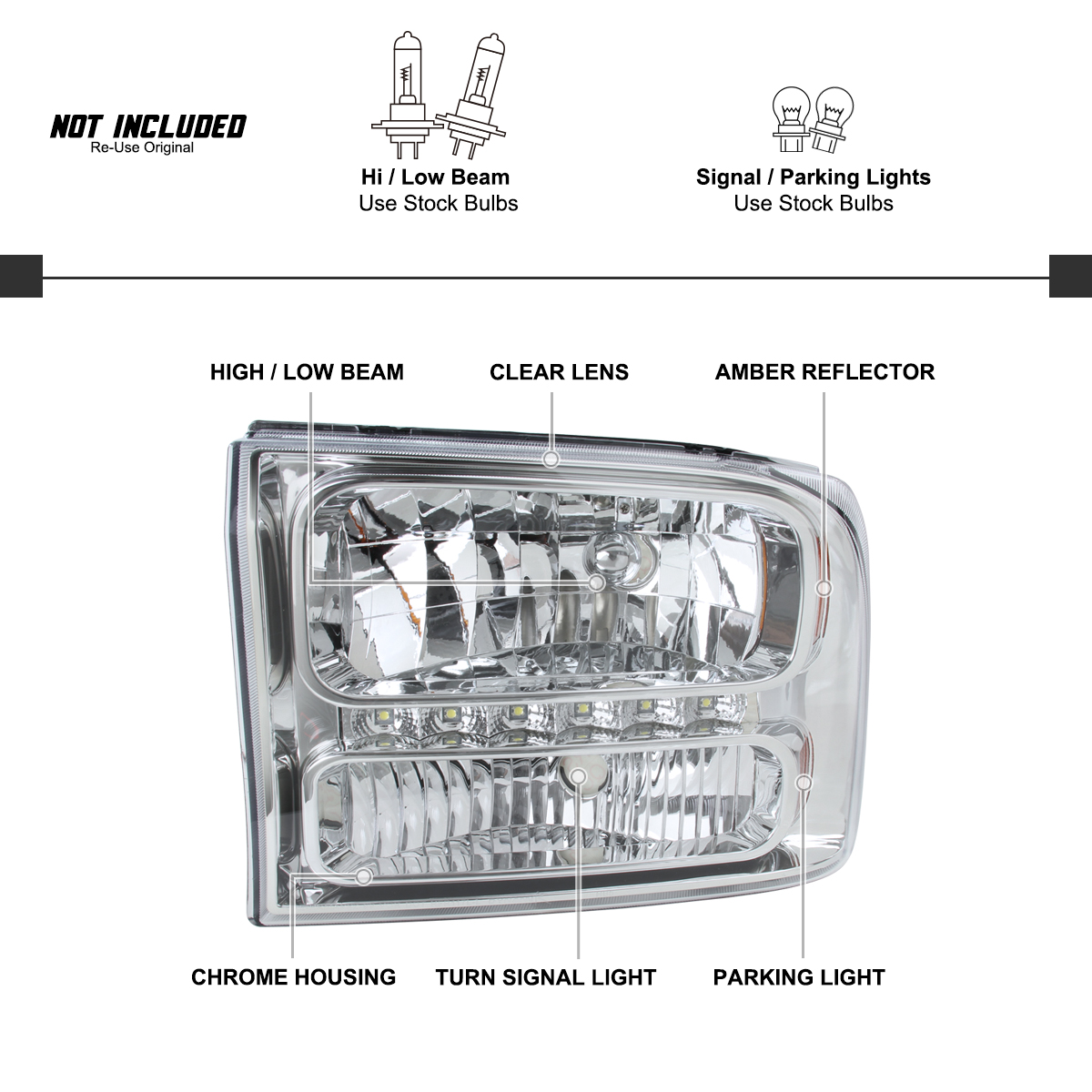 For 99 04 Ford F250 F350 Superduty 00 04 Excursion
