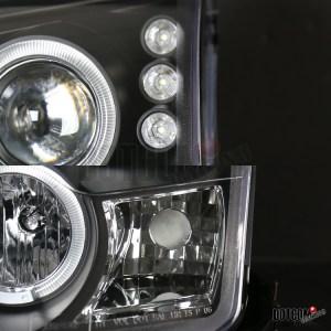 20062009 Ford Fusion Halo Black Projector HeadlightsH1