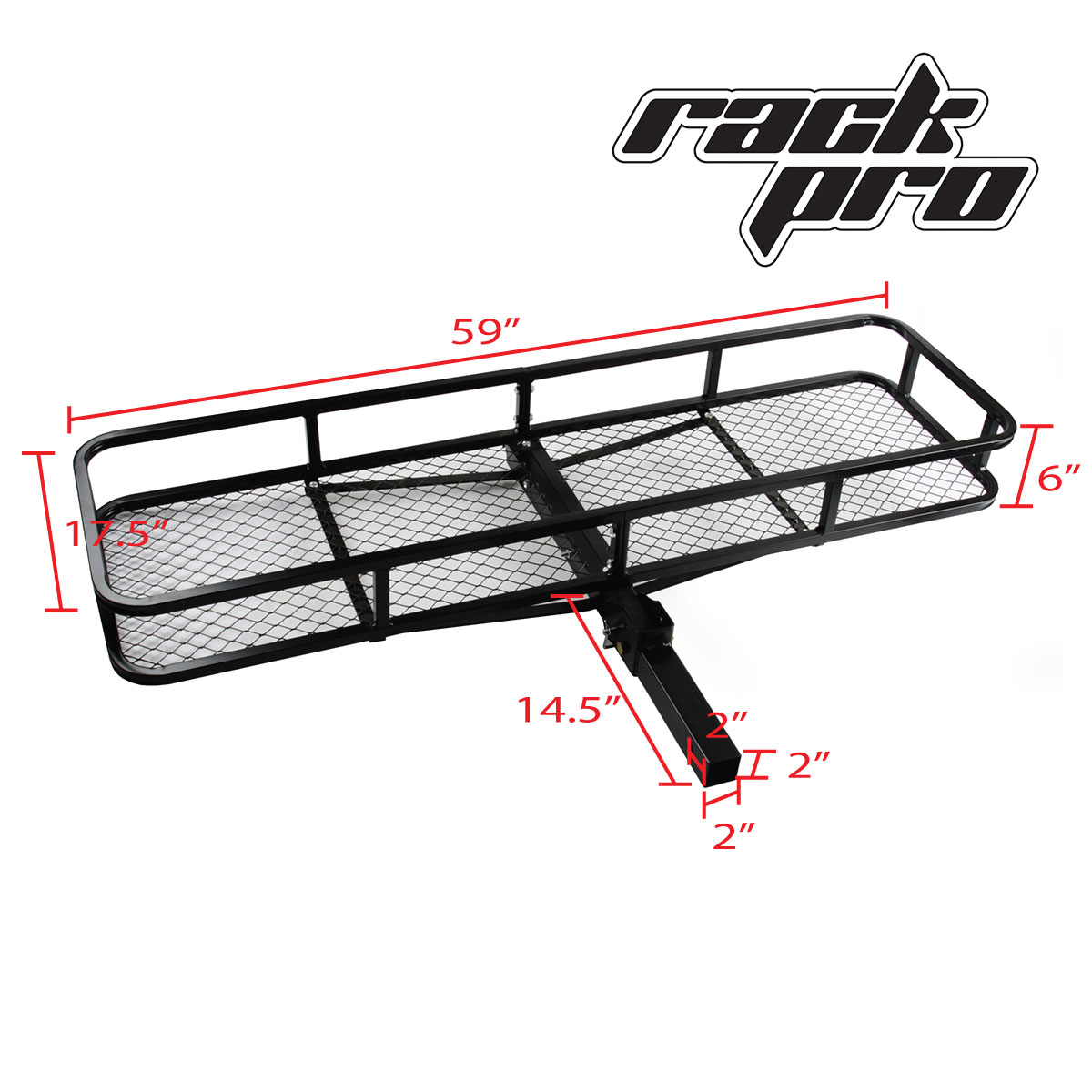 Rear Hitch Basket Universal Rack Cargo Car Luggage Carrier