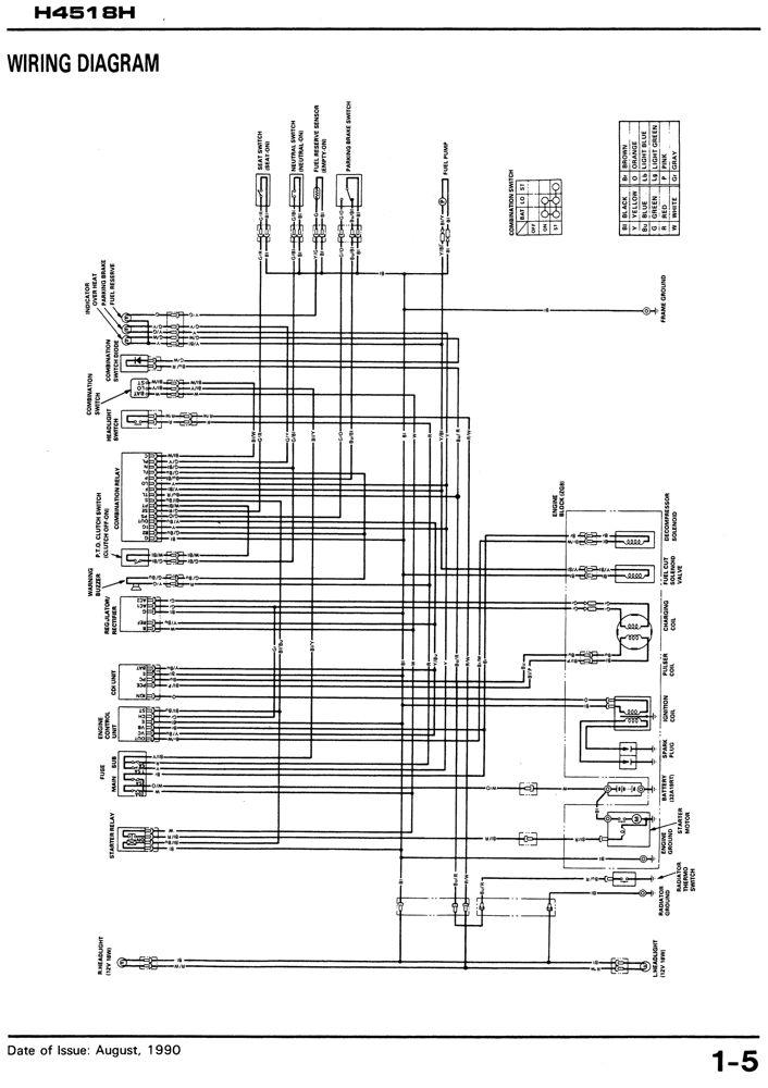 Honda H4518h 4518 Lawn Tractor Service Repair Manual