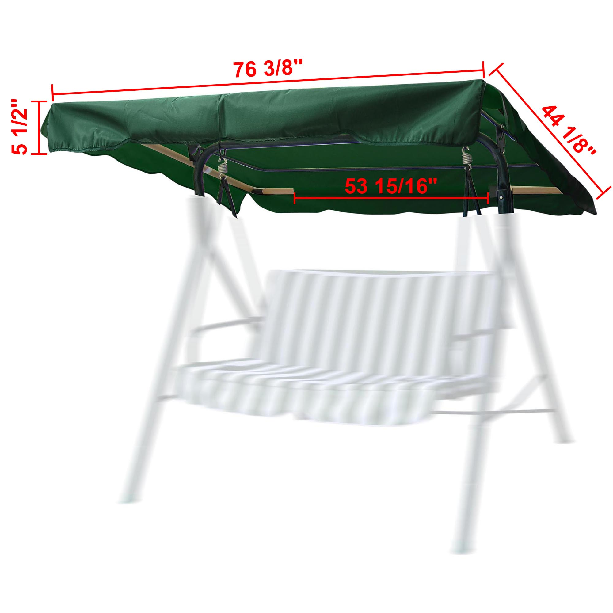 Outdoor Swing Canopy Top Replacement Patio Cover Garden