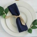25 Pcs Navy Blue Polyester 17x17 Table Napkins Wedding Party Kitchen Linens Ebay