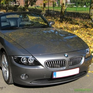 For 20032008 BMW Z4 Twin Halo Projector Headlights Black Head Lights Lamp Pair | eBay