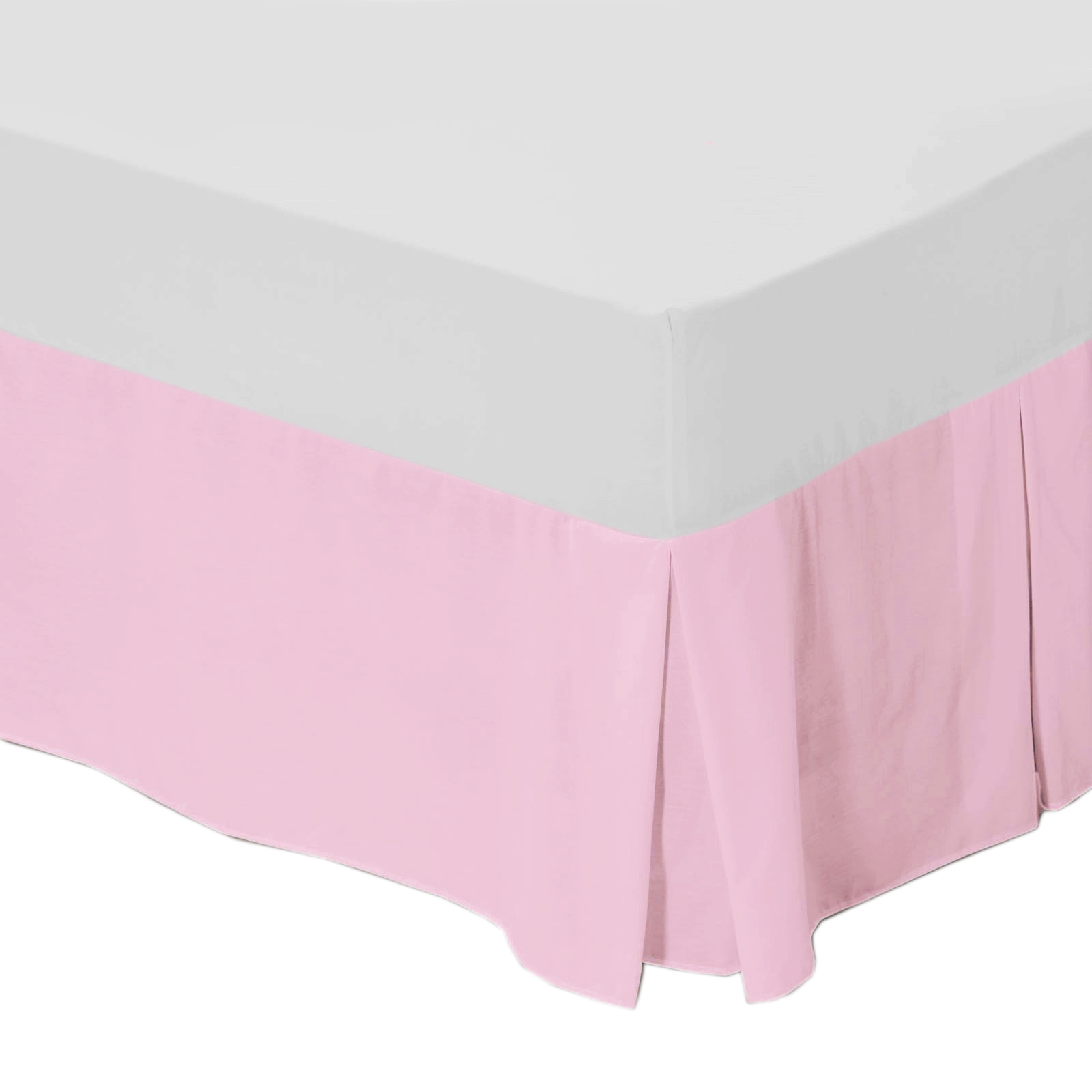 Plain Platform Base Valance Bed Sheet Polycotton Bedding