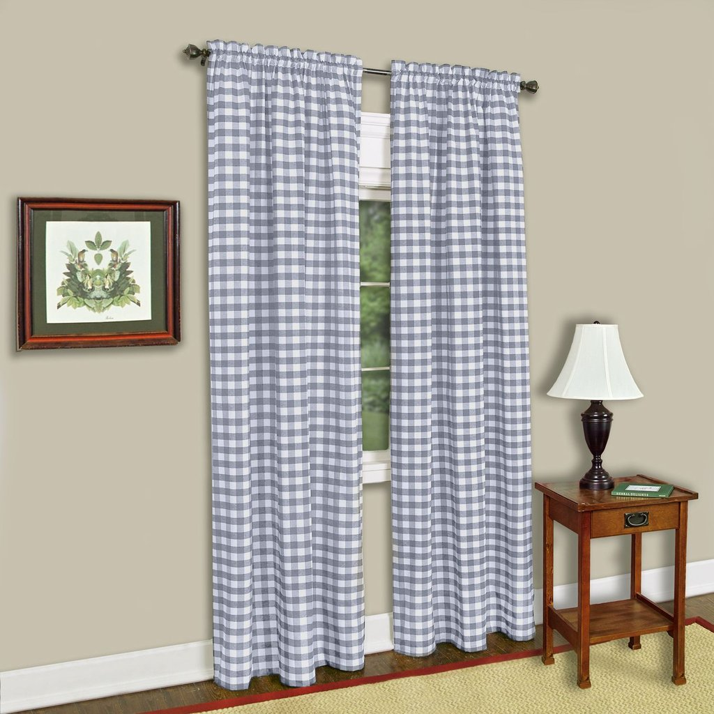 Checkered Window Curtain Dplaid Gingham Checker