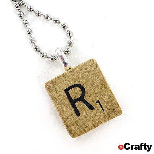 Scrabble Tile Necklace DIY
