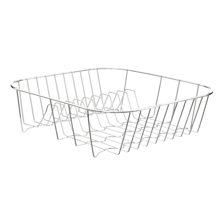 Chrome Wire Dish Drainer Bowls Mugs Draining Plates Drying