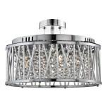 Elise Chrome 5 Light Ceiling Lighting Chandelier Fitting Crystal Button Drops Ebay