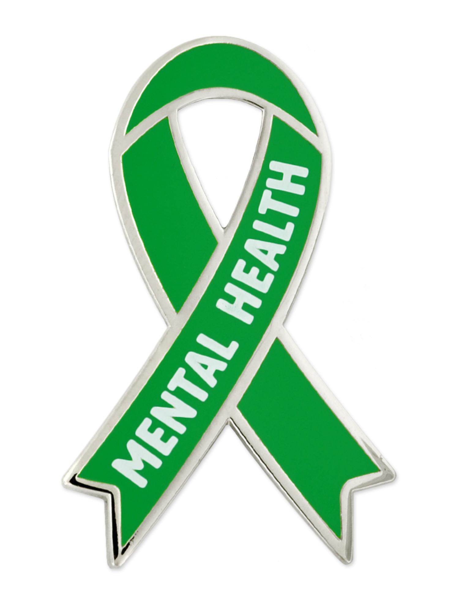Pinmart S Mental Health Green Awareness Ribbon Enamel