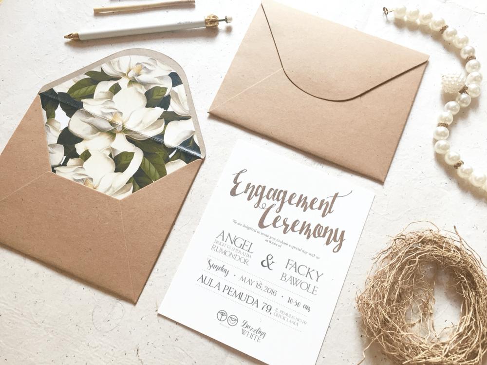 Desain Undangan Pernikahan Simple Dan Elegan Nikahnya
