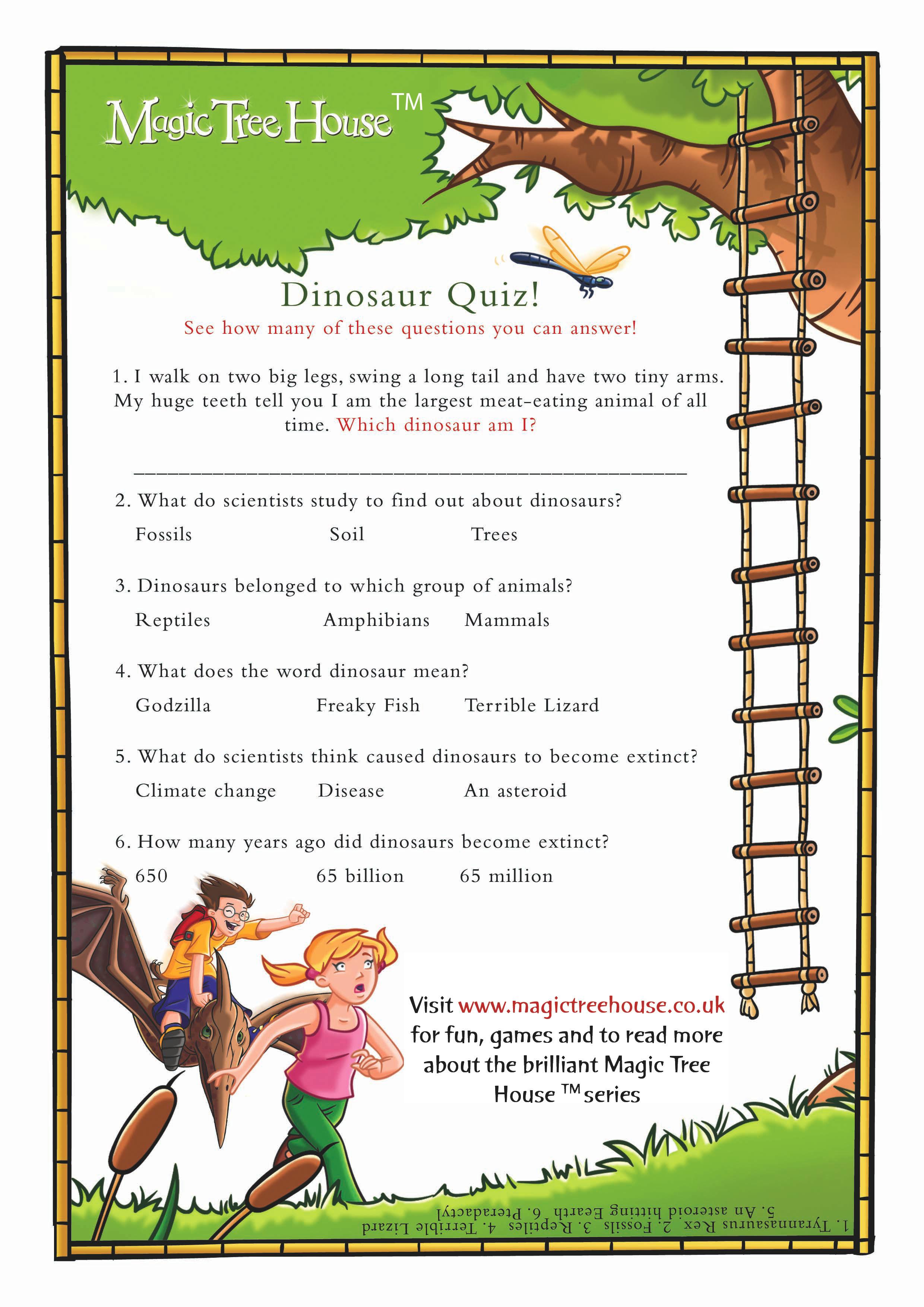 Magic Tree House Quiz