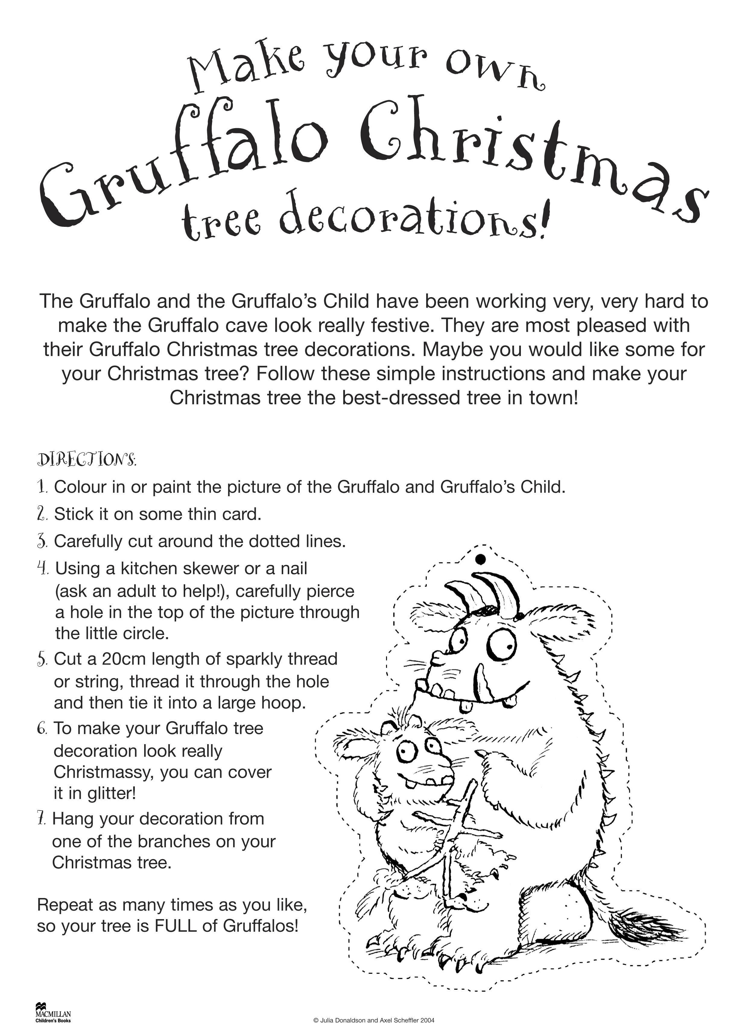 Make Gruffalo Christmas Decorations