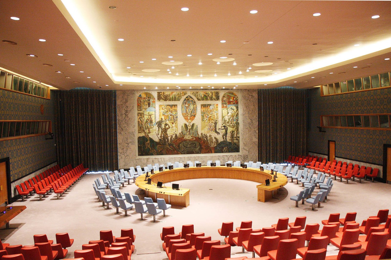 A Look Inside The United Nations Restored Security Council Chamber