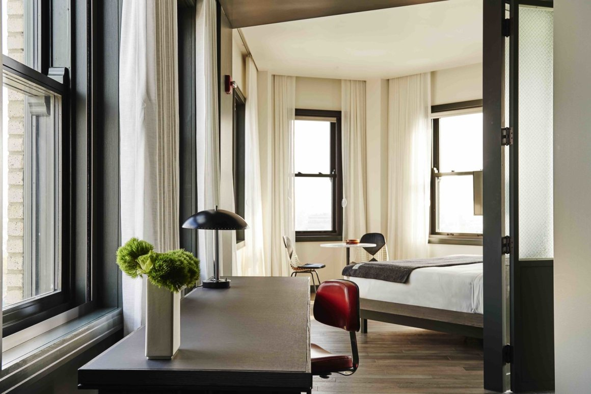 12 Modern Hotels in Historic Buildings Around the World - Photo 4 of 24 - The interiors of The Robey in Chicago, Illinois