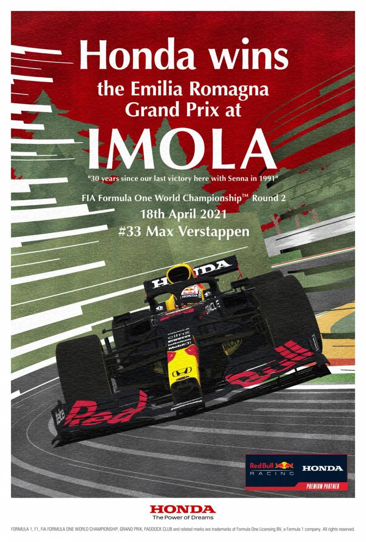 imolagp winners poster honda racing