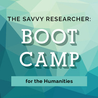 Flyer for the most recent Humanities Boot Camp workshop