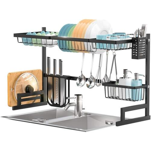 dish drying rack over the sink adjustable large dish rack drainer sortwise
