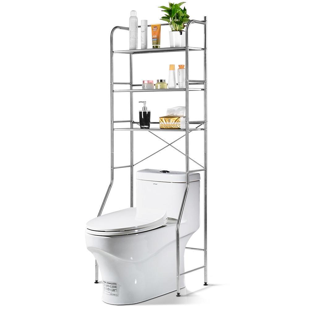 3 tier over the toilet storage rack sortwise