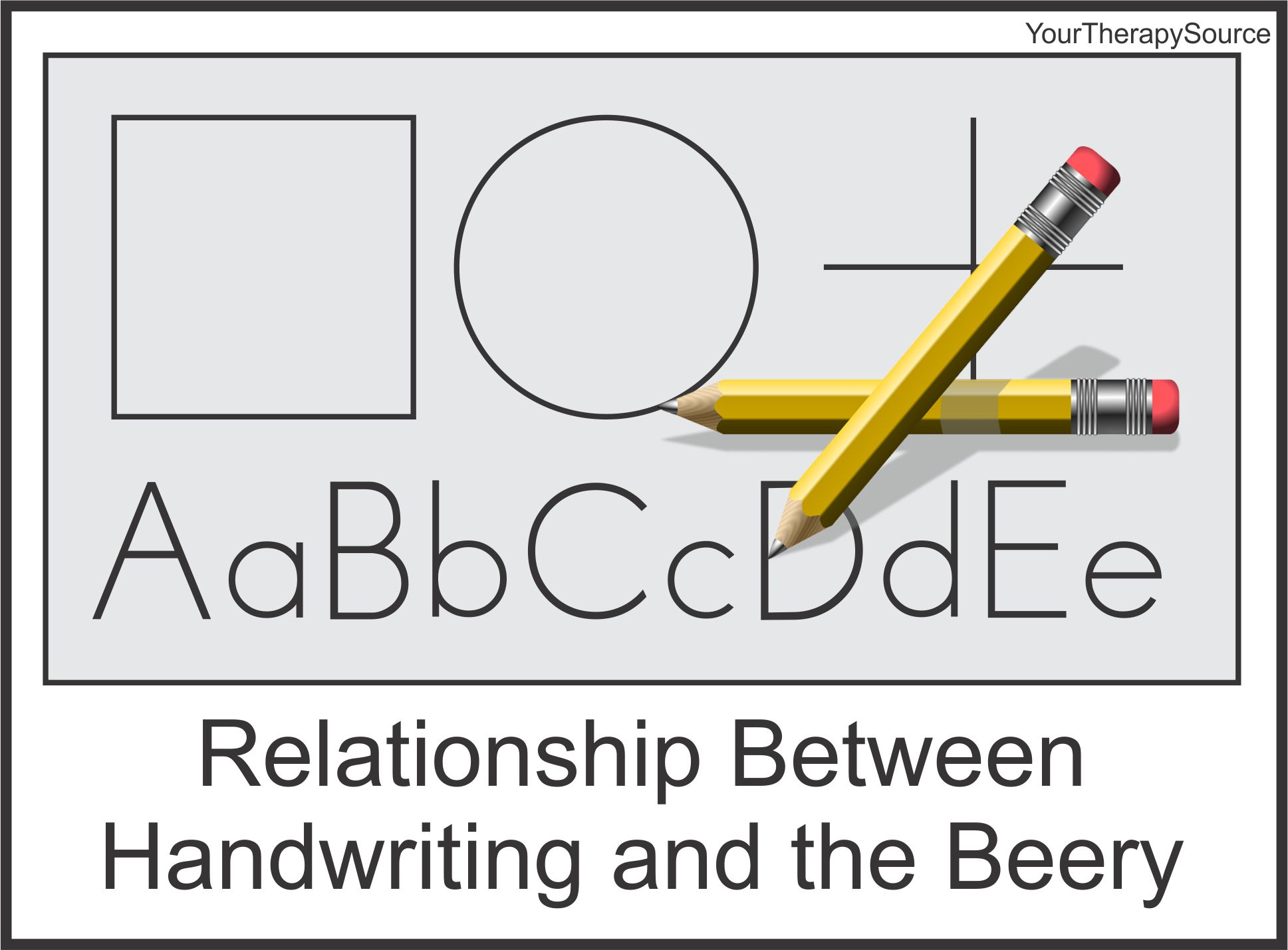 Relationship Between Handwriting And The Beery