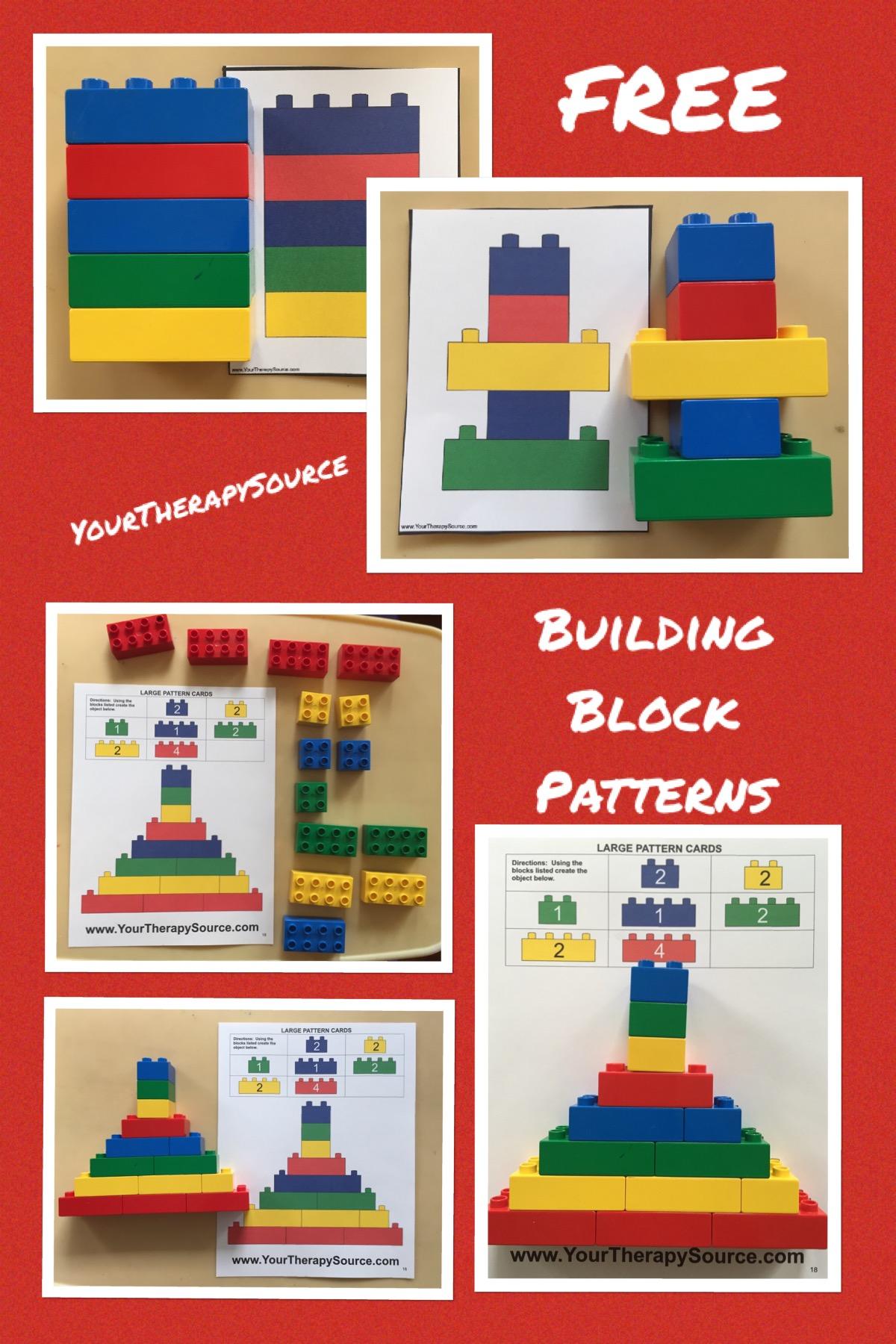 Building Block Pattern Freebie