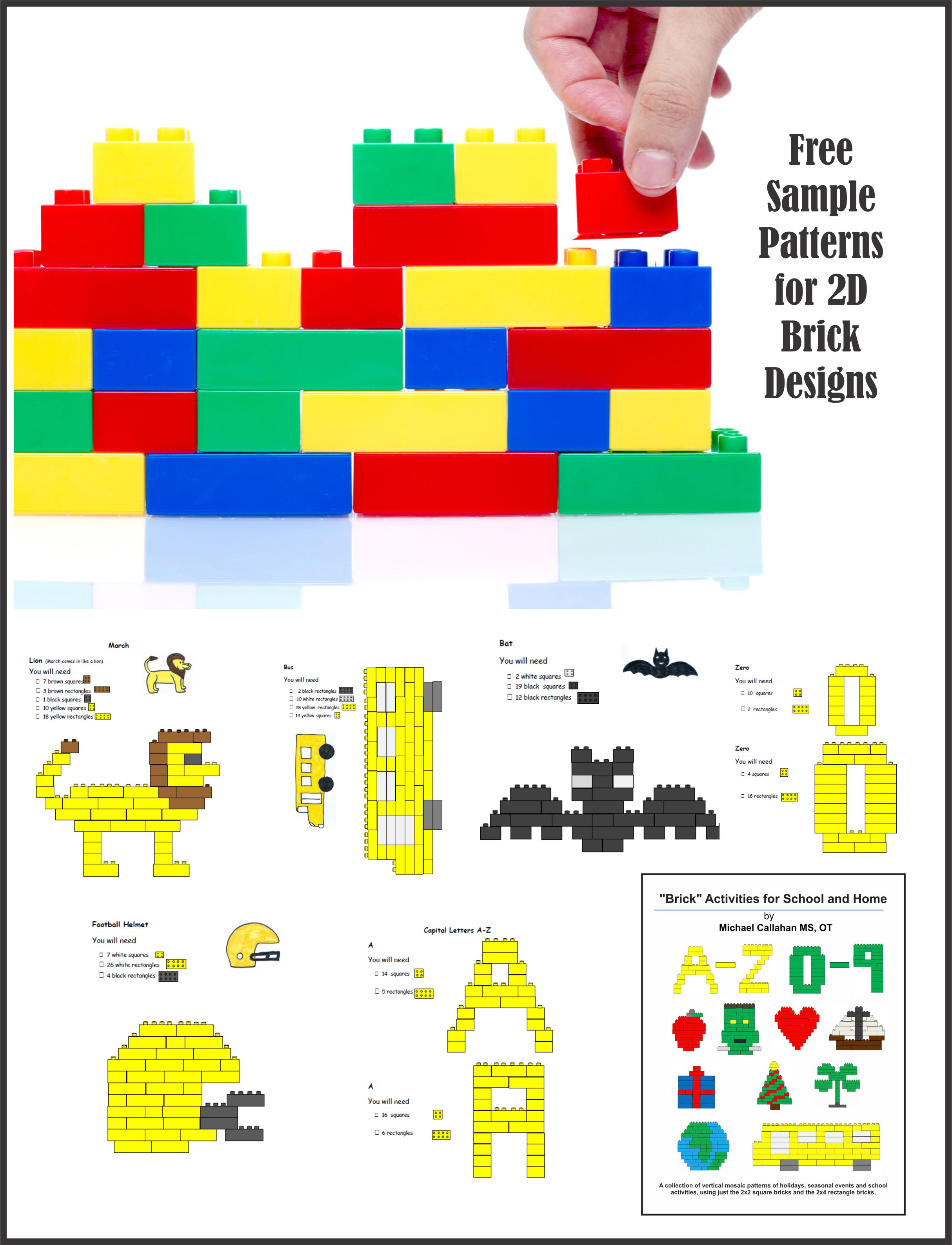 Brick Design Activity Pages For School And Home