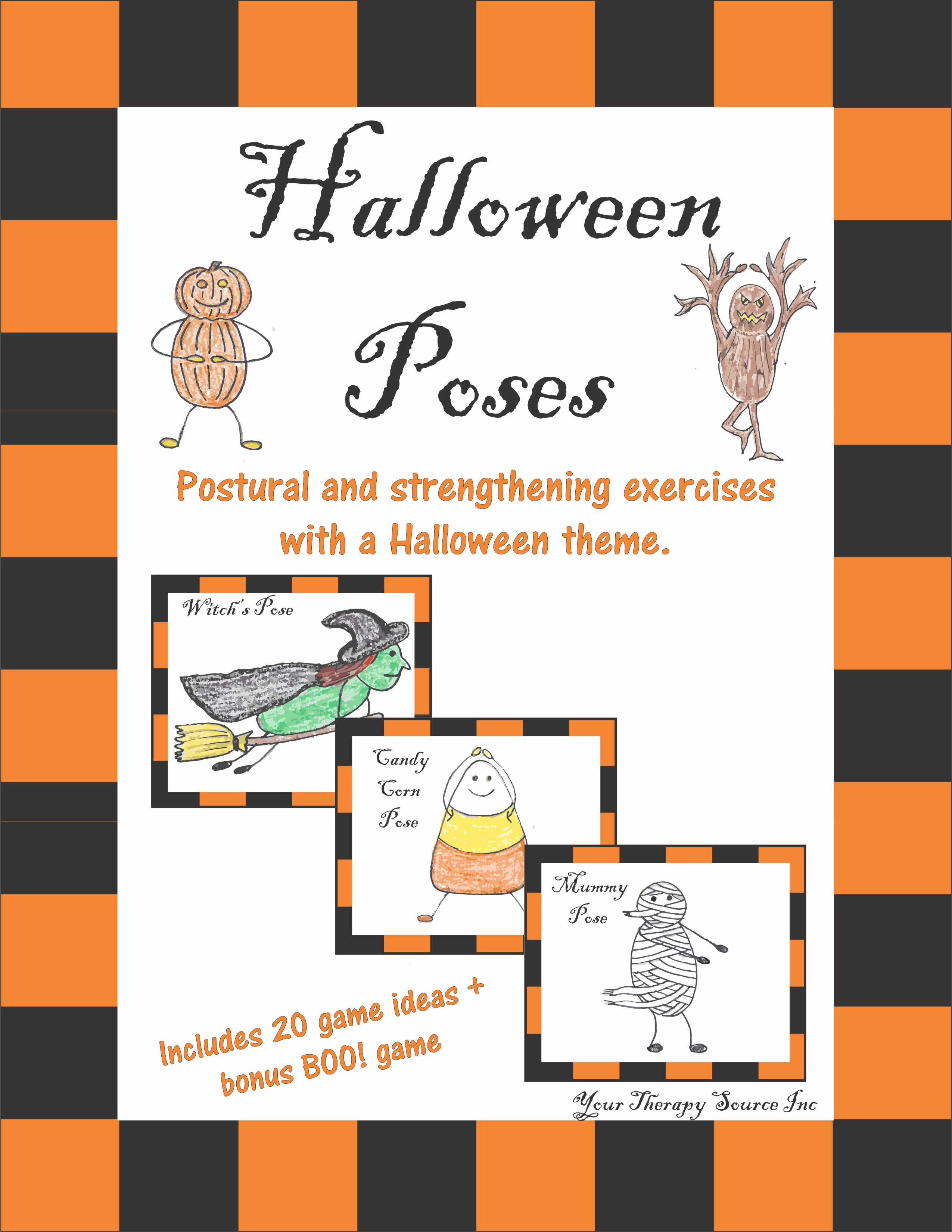 Halloween Poses Postural And Strengthening Exercises