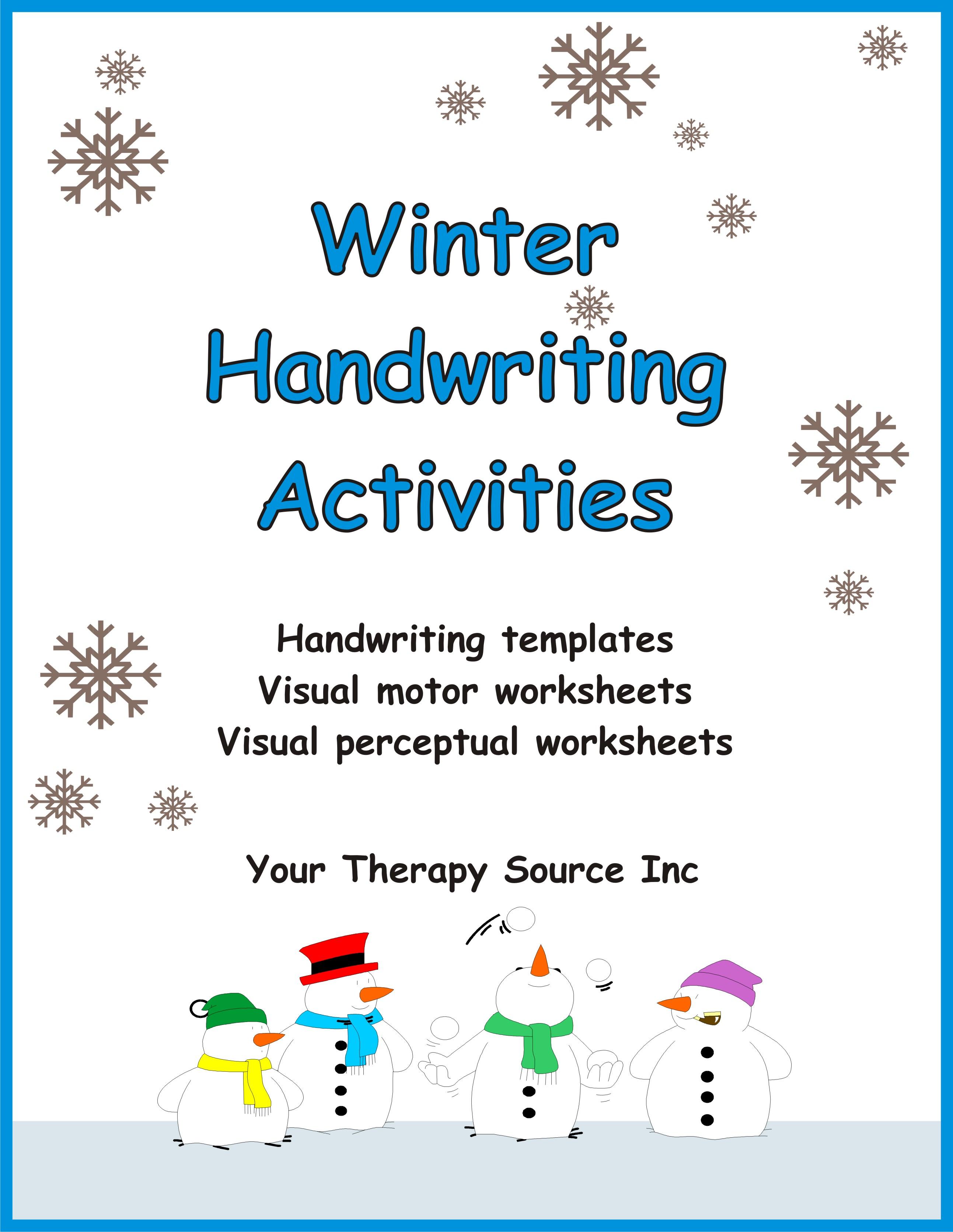 Winter Handwriting Activities