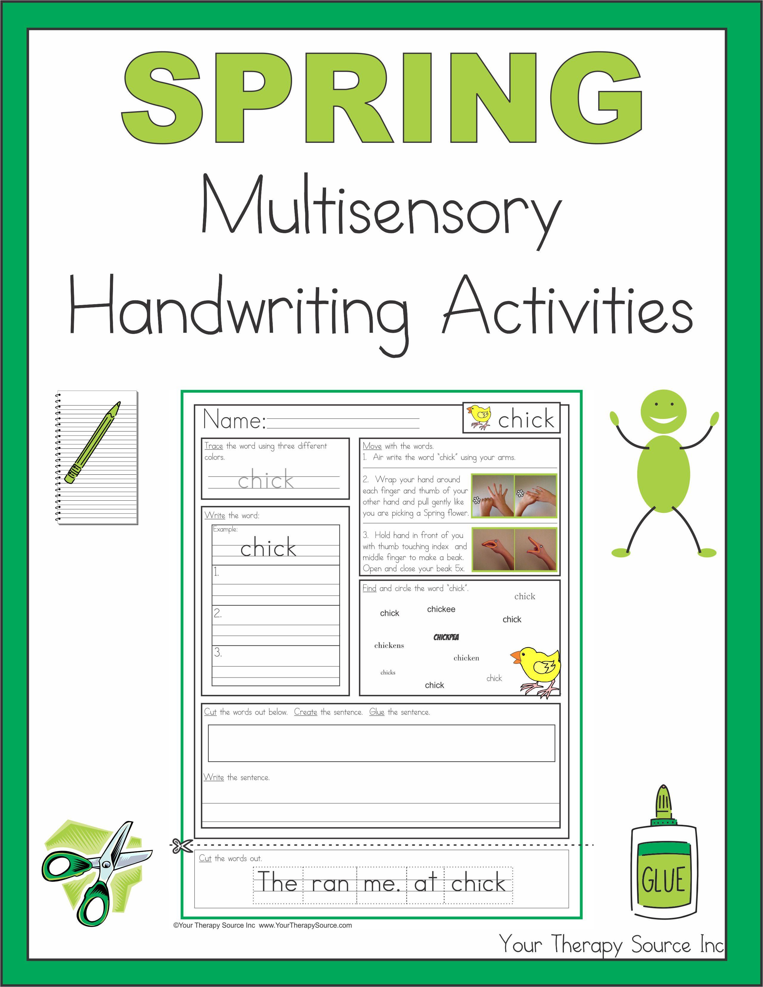 Spring Multisensory Handwriting Activities