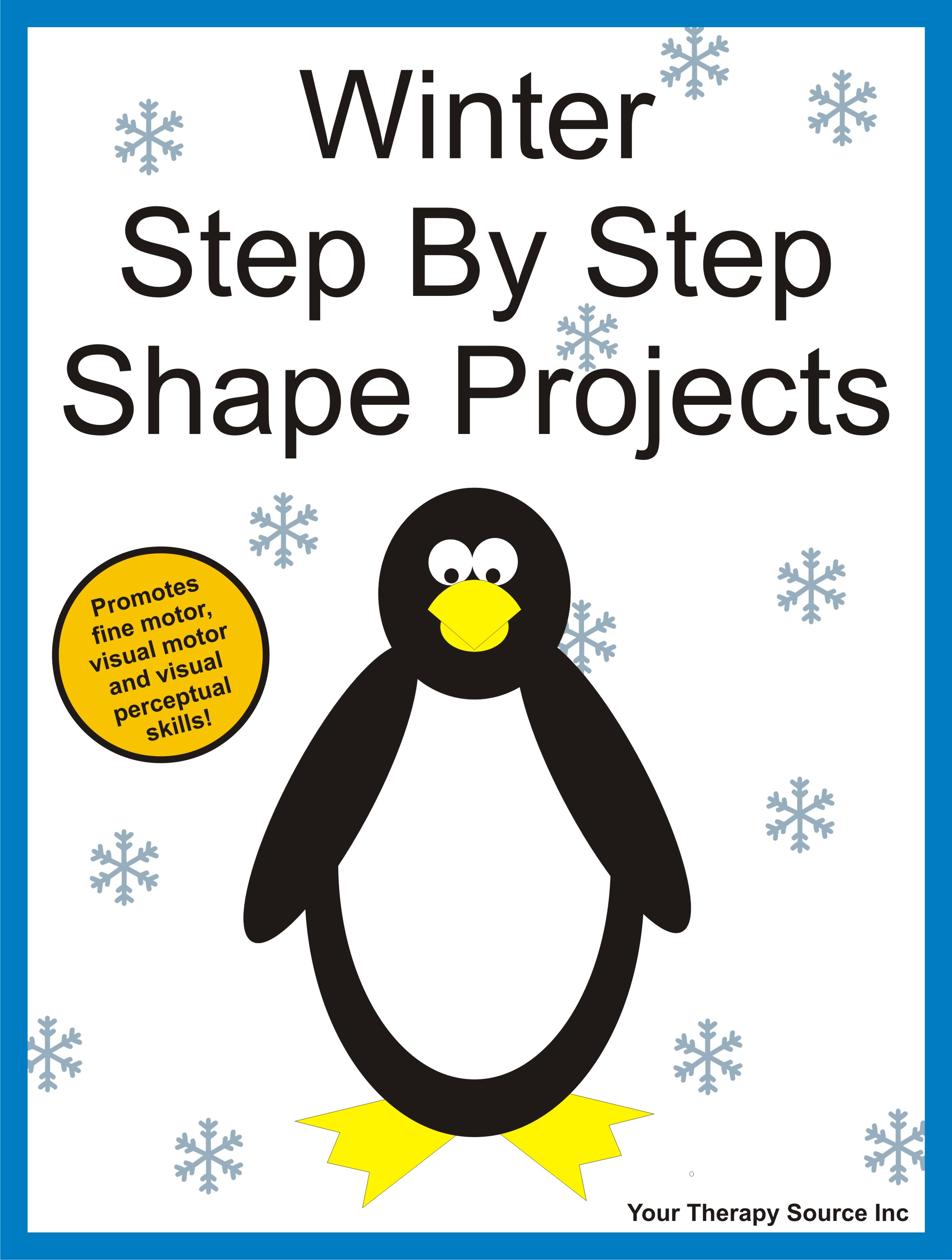 Winter Step By Step Shape Projects