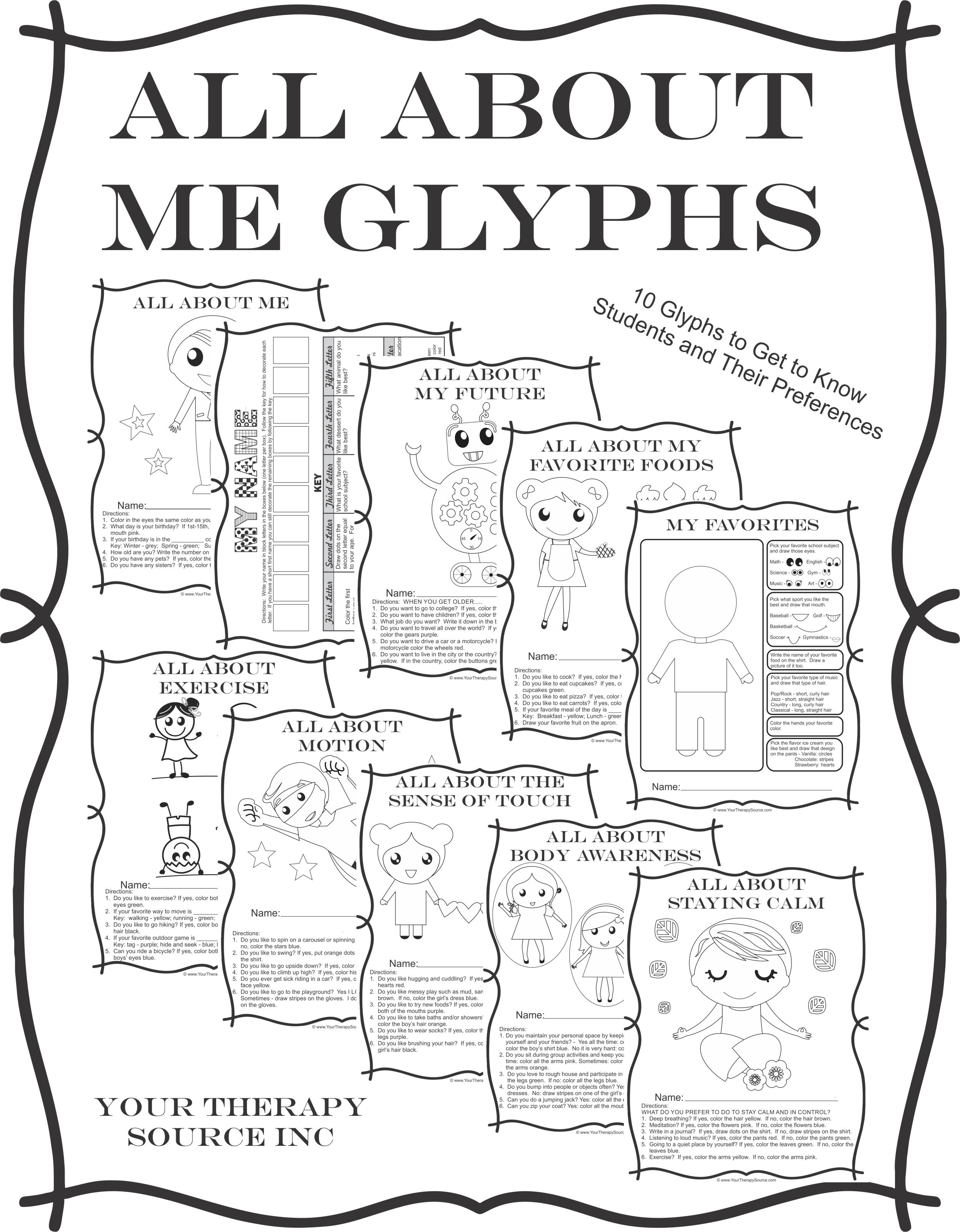 All About Me Glyphs
