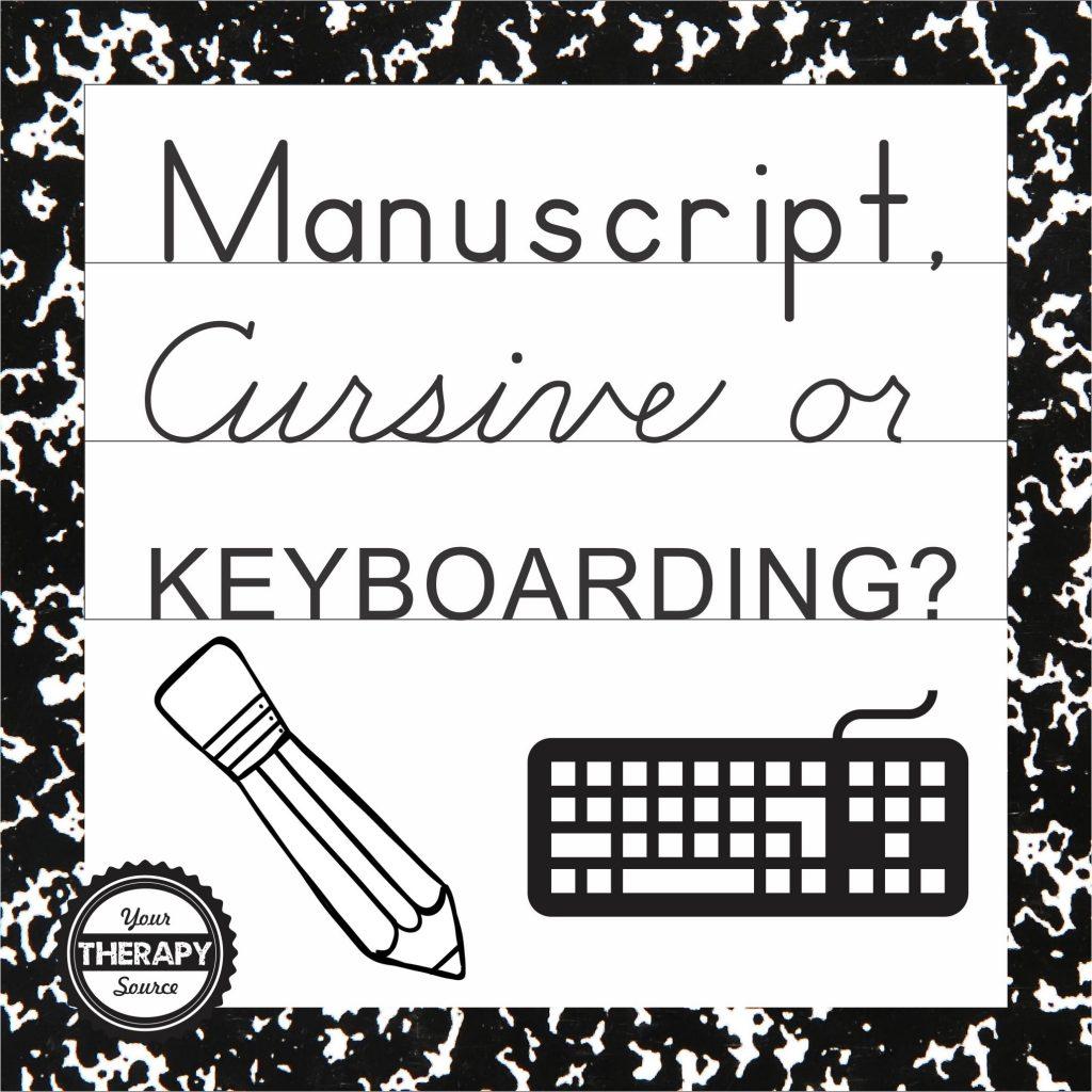 M Cript Cursive Or Keyboarding