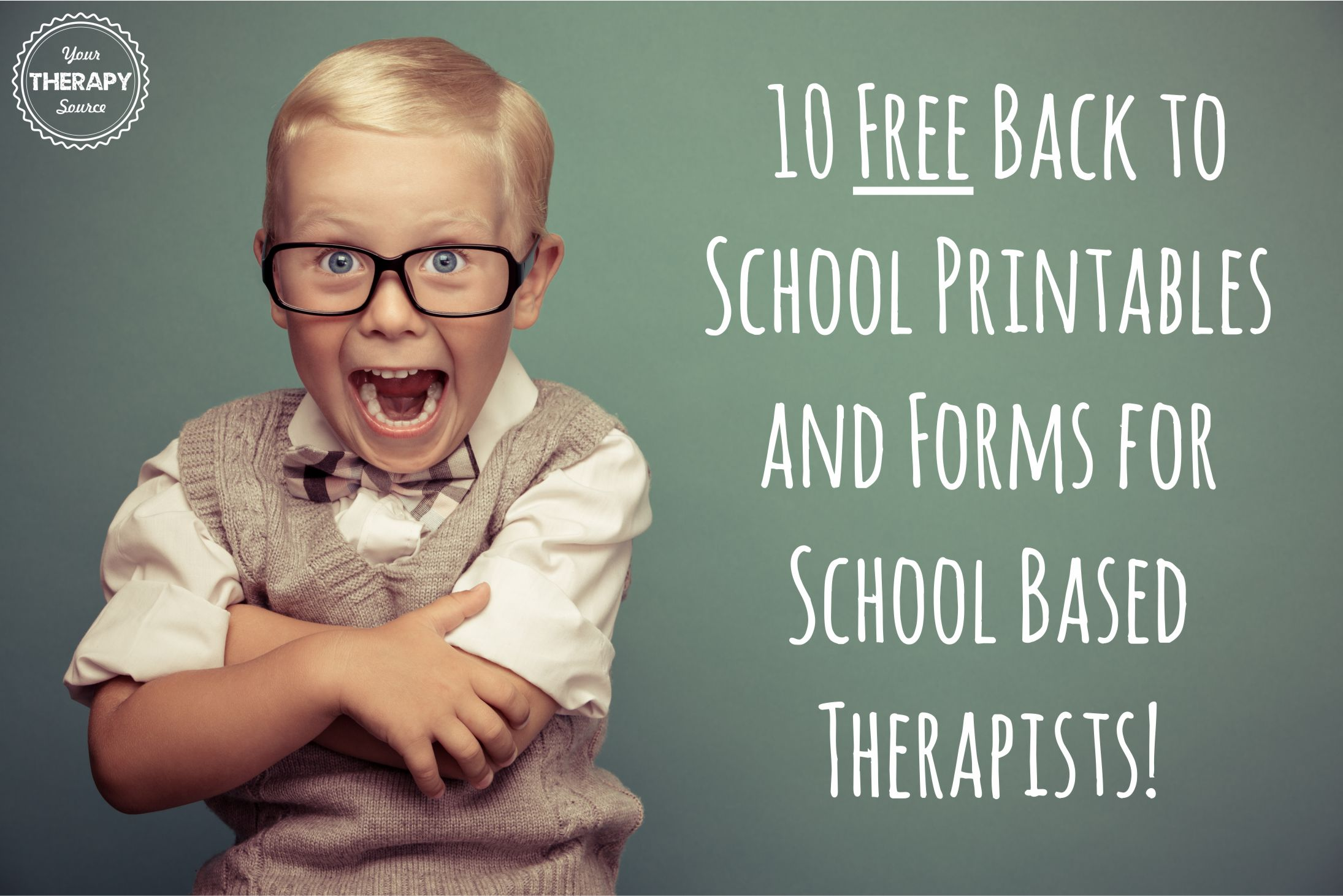 10 Free Back To School Printables And Forms For School Based Therapists