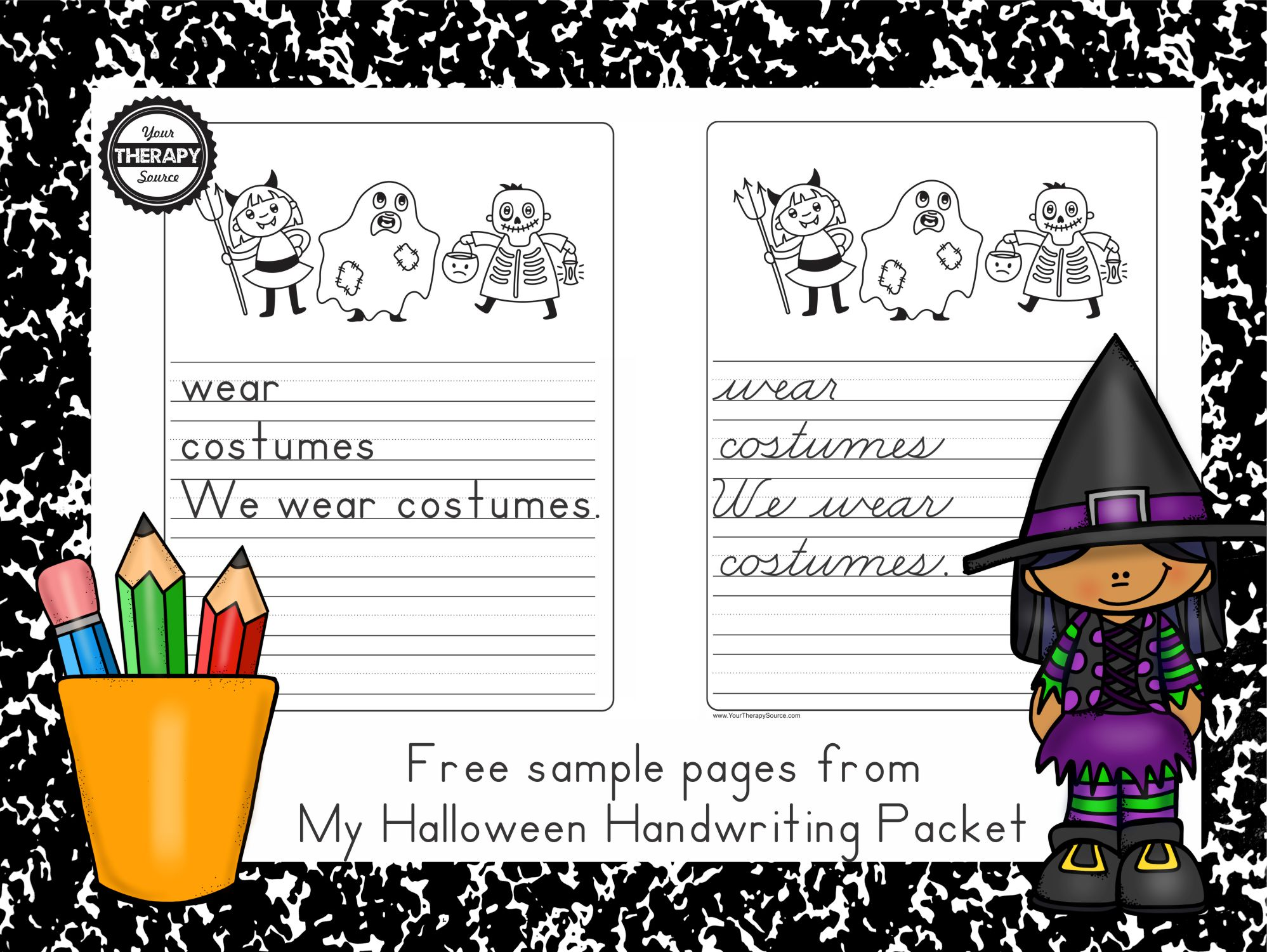 Halloween Handwriting Practice Freebie
