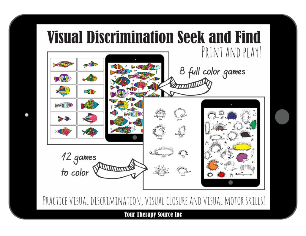 Visual Discrimination Seek And Find