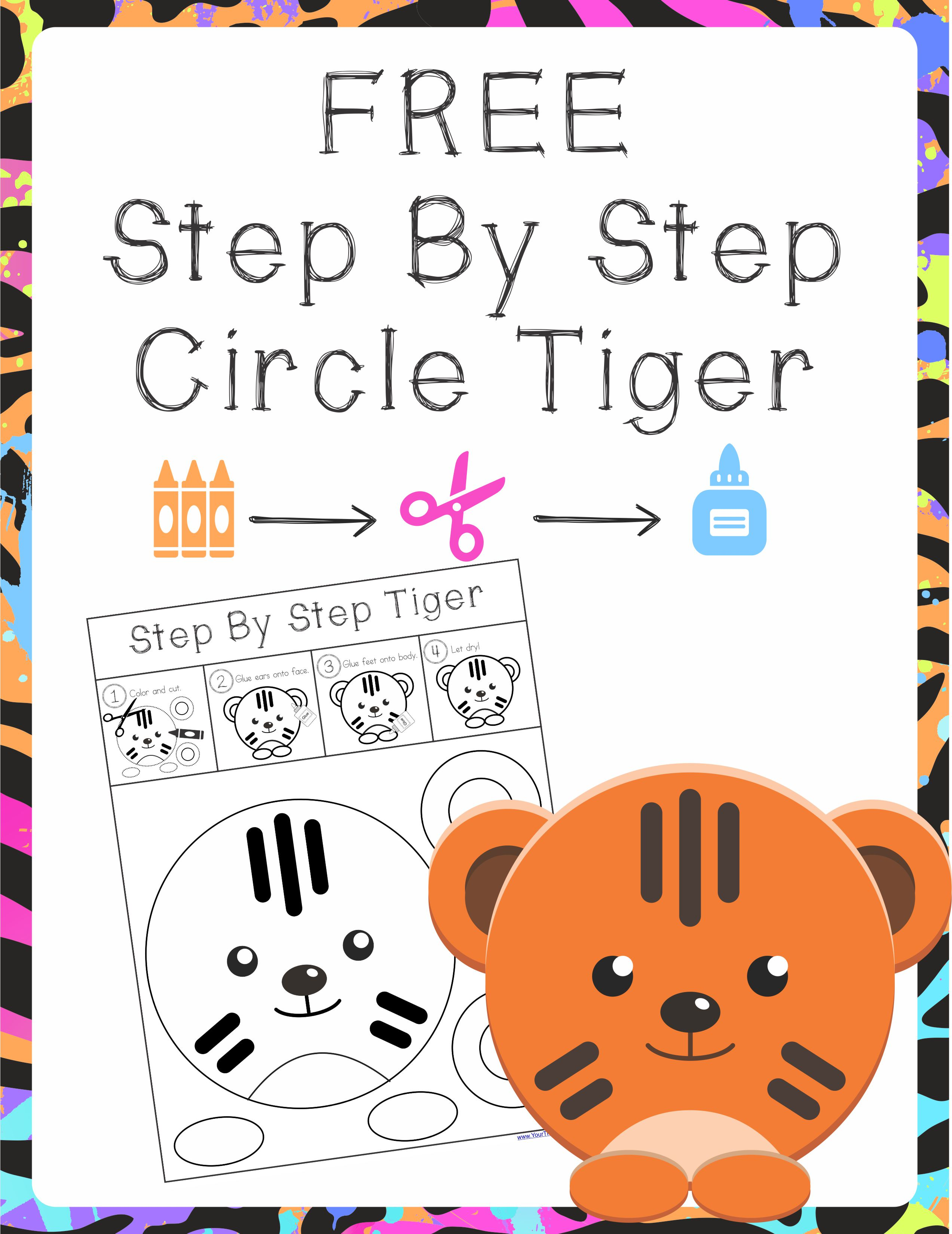 Step By Step Tiger Circle Scissor Project