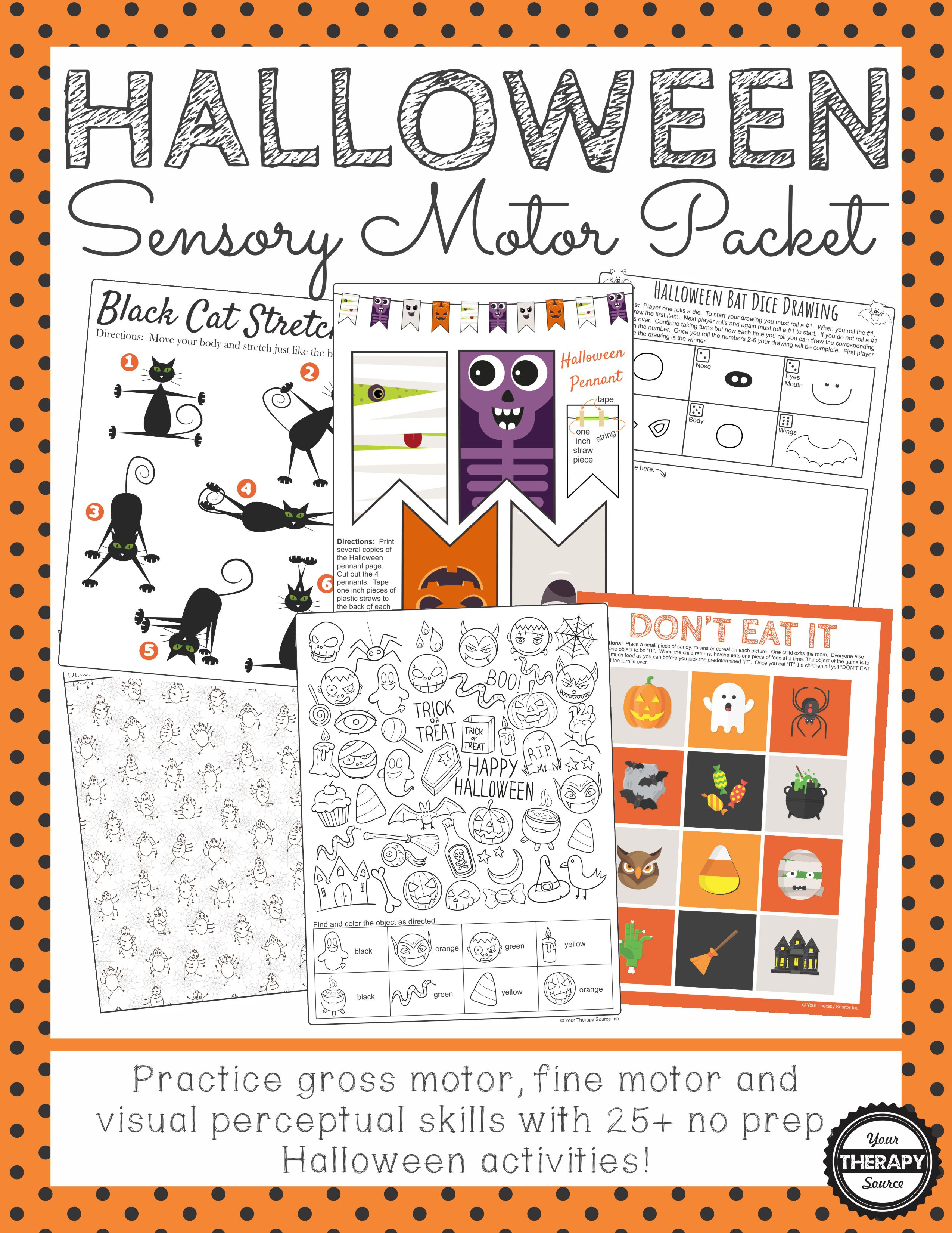 Halloween Sensory Motor Packet