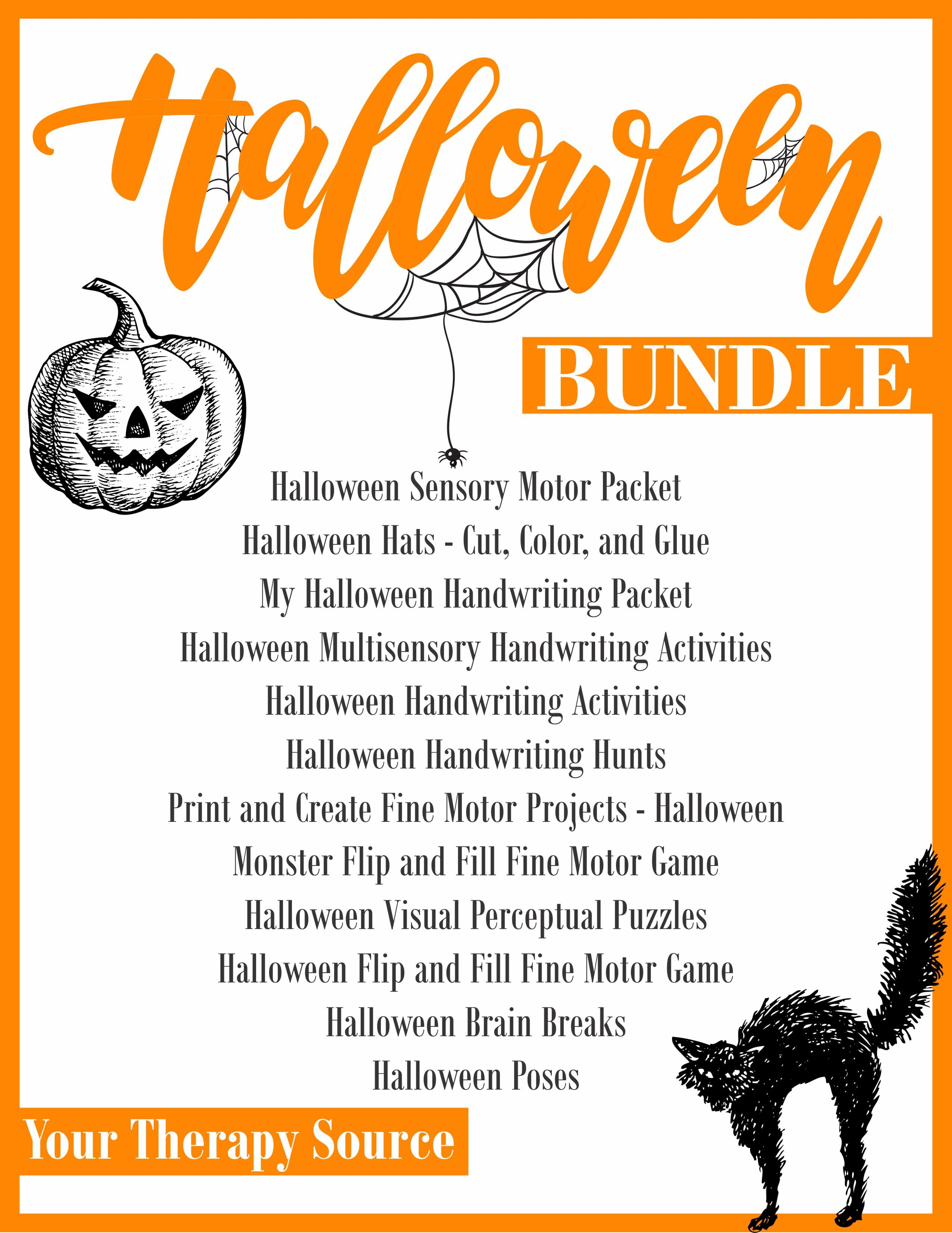 Halloween Worksheets And Activities Bundle